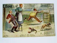 1910 E.HAMEL/NOTTINGHAM SIGNS OF ZODIAC ADVERTISING NOVEMBER CALENDAR POSTCARD