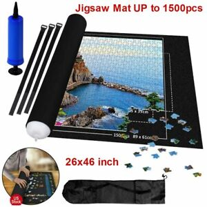 26x46 Jigsaw Puzzles Storage Mat Felt Blanket Large Roll Up To 1500 Pieces Game