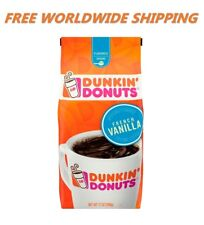 Dunkin' Donuts Flavored French Vanilla Ground Coffee 12 Oz WORLD SHIP