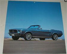 1967 Ford Mustang Convertible car print (teal, no top)
