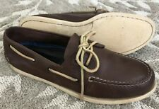 Sperry Top-Sider A/O Men's 15 M Brown Leather 2-Eye Boat Deck Shoes 0195115