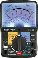 Tekpower TP8260L Analog Multimeter With Back Light, and Transistor Checking dock