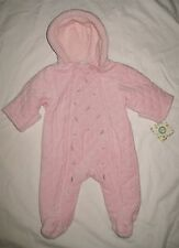 NWT LITTLE ME INFANT GIRLS SNOWSUIT BUNTING PINK QUILTED SIZE 6/9 MONTHS