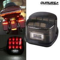 Smoke Lens Brake Tail Light For Harley Dyna Softail Sportster Touring Motorcycle
