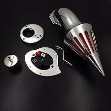 X. Spike Air Cleaner Intake Filter Kit chromed For Honda Vtx1300  1986-2012