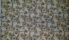 """BELLINA BY KENT AVERY QUILTING FAT QUARTER TAN BLUE ROSE BUDS 18"""" × 22"""""""