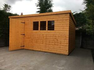 "Garden shed 12x10 pent 13mm t+g including roof  3""x2"" frame 1"" thick floor"
