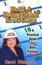 Build A Better Board In 30 Days by Weisman, Carol