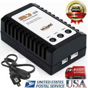 US RC B3 Balance Charger For 2S 3S 7.4V 11.1V Lithium Lipo Battery fast free CA