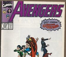 The AVENGERS #314 with Captain America & Spider-man from Feb.1990 in Fine  NS