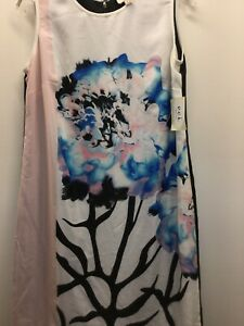 ECI Women's Floral Sleeves Dress Size  6 **NWT**