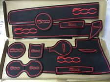 FIAT 500 2015+ DASHBOARD INTERIOR GATE MAT PAD TRIM SET  - RED ONLY