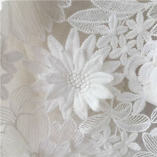 Exquisite 3D Flower Lace Fabric Off White Floral Wedding Fabric Bridal Fabric