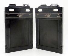 "2 X Vintage Linhof 9x12 Double Film Backs / Dark Slides for 4"" x 5"" #4619"