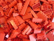 100 rote Lego® Basic Dachsteine / Dachziegel rot  - City - Haus (L010)