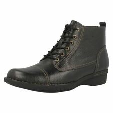 Clarks 100% Leather Lace Up Boots for Women