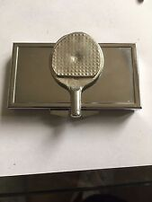 Ping Pong Battered Bat TG223 English Pewter On Mirrored 7 Day Pill box Compact