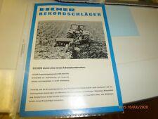 Eicher   original  Prospekt   Rekordschläger    Traktor  (M-28)