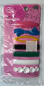 7 VINTAGE GOODY girls kids RARE SNAP TIGHT BARRETTES 3607 NEW NOS NIB PACKAGE