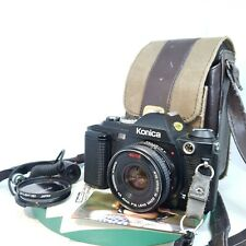 Konica FS-1 35mm SLR film camera with 40mm F1.8 Hexanon AR lens + Papers TESTED