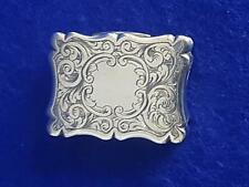 Terrific Antique Birmingham 1859 H/M Sterling Silver Vinaigrette Pill Box 17.6g