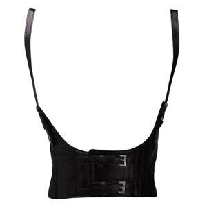 Womens Steampunk Body Harness Wide Belt Sexy Faux Leather Corsets Vest Cincher