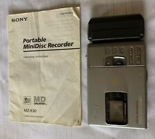 Sony Mini Disk Recorder/Player/Editor Md Walkman Mz-R30, Charger, Accessories