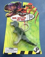Vintage 1990s Jurassic Park Lost World Dinosaur T-Rex Skeletion Keychain In Pack