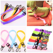 Nylon Dog Car Seat Belt Lead Safety Vehicle Restraint Harness Leads for Travel