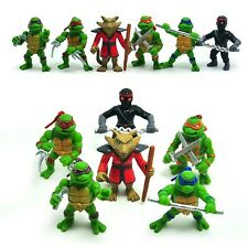Small 6 TMNT Teenage Mutant Ninja Turtles Action Figures Cake Topper Decor Toy
