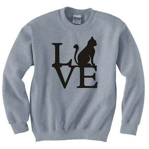 "FUNNY CAT ""LOVE CATS"" SWEATSHIRT"