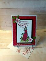 Stampin up! WISHING YOU A LOVELY DAY- Handcrafted-  Card Kit-Set of 4*