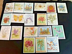 LOT (19) ASST GREETING CARDS/ENV..BY ARTIST JANE SHASKY..BDAY,BLANK,TY,SYMP,GW++