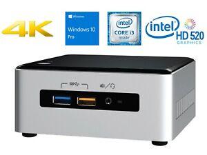 Intel NUC Desktop NUC6i3SYH Intel i3 - 6-Gen 4GB DDR4 - 256GB M.2-SSD Win 10 Pro