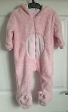 F & F Pink Novelty Cosy Baby Gro - Age 9-12 Months
