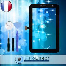 """Vitre ecran tactile pour Samsung Galaxy Tab 2 7.0"""" P3100 noir + adhésif +outils"""