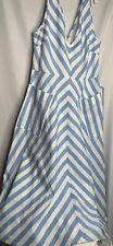 Kate Spade Deck Stripe Mini Dress Light Blue And White Size 8 $298.00