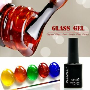 Translucent Amber Coloured Gel Nail Enamel Gel Nail Art Manicure UV Gel Polish