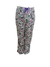 Betty Boop Women's Sleepwear Plush Fleece Lounge Pajama Sleep Pants Zebra S