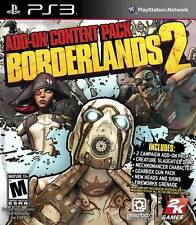 New Borderlands 2: Add-On Content Pack Playstation 3 Game Factory Sealed!