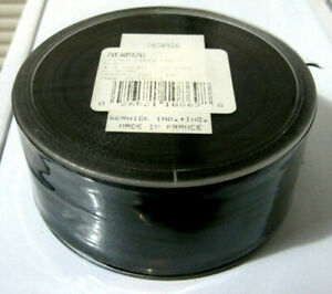 "FRENCH WIRED BLACK SATIN RIBBON Berwick 7030926 1.5"" WIDE 21 YARDS NEW SPOOL!"