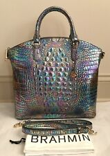 BRAHMIN Melbourne Large DUXBURY Iridescent Lthr Satchel Bag MOTHER OF PEARL NWT