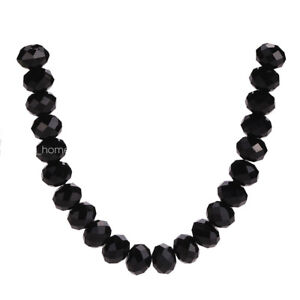 100pcs 4x3mm Rondelle Faceted Crystal Glass Loose Spacer Beads Jewelry Findings