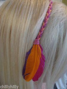 Accessorize Feather Hippy Bohemian Headband Festival Party RRP£6.00 BNWT