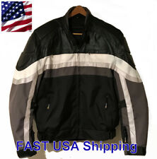 Men's XElement Motorcycle Gear Armored Padded Black Jacket XL Retro Reflective