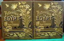 EGYPT: DESCRIPTIVE, HISTORICAL, PICTURESQUE 1879 Ebers Sphinx Pyramids Pharaohs!