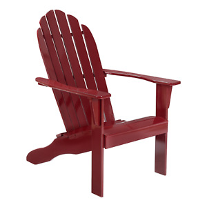 Outdoor Wooden Adirondack Chair, White Finish, Solid Hardwood, Mainstays Patio