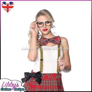 Ladies Nerd Geek Kit School Hen Do Fancy Dress Costume Outfit Sexy Accessory Set