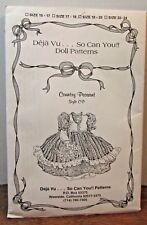 Deja Vu.So Can You! Doll Clothing Pattern Country Peasant Style Cp Size 18-20""