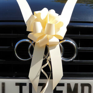 Handmade Plain Wedding Car Ribbon and Bows | 29 colours | Plain Wedding Ribbon